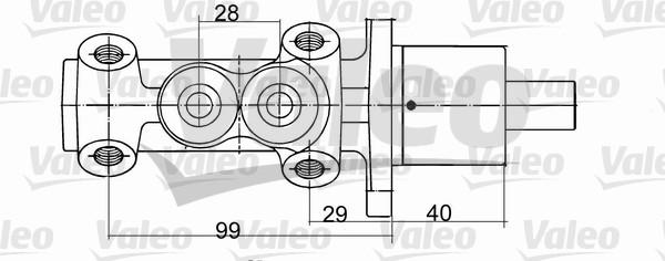 Maître-cylindre de frein - VALEO - 402093