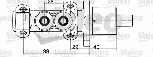 Maître-cylindre de frein - VALEO - 402094