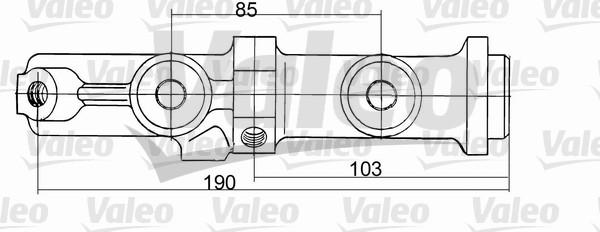 Maître-cylindre de frein - VALEO - 350680