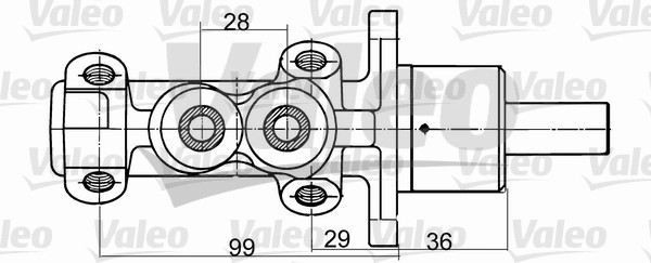 Maître-cylindre de frein - VALEO - 350707