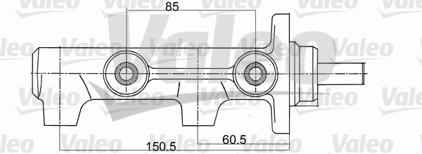 Maître-cylindre de frein - VALEO - 350711