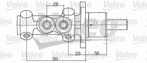 Maître-cylindre de frein - VALEO - 350705
