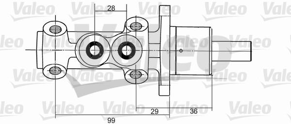 Maître-cylindre de frein - VALEO - 350824