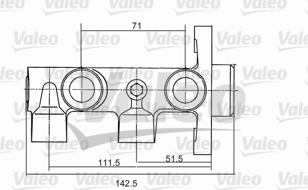 Maître-cylindre de frein - VALEO - 350823