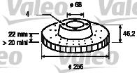 Disque de frein - VALEO - 186112