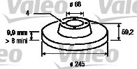 Disque de frein - VALEO - 186114