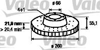 Disque de frein - VALEO - 186119