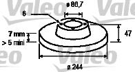 Disque de frein - VALEO - 186128