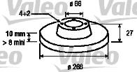 Disque de frein - VALEO - 186134