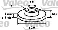 Disque de frein - VALEO - 186135