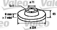Disque de frein - VALEO - 186144
