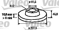 Disque de frein - VALEO - 186151