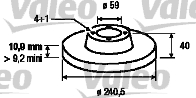 Disque de frein - VALEO - 186155