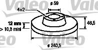 Disque de frein - VALEO - 186157