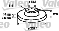 Disque de frein - VALEO - 186162