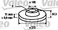 Disque de frein - VALEO - 186172