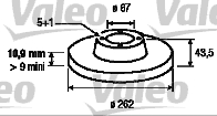 Disque de frein - VALEO - 186176