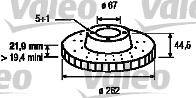 Disque de frein - VALEO - 186177