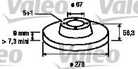 Disque de frein - VALEO - 186183