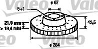 Disque de frein - VALEO - 186185