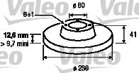 Disque de frein - VALEO - 186187