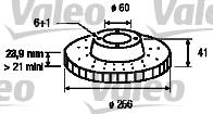 Disque de frein - VALEO - 186189