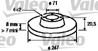 Disque de frein - VALEO - 186196