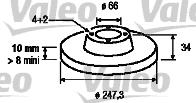 Disque de frein - VALEO - 186200