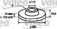 Disque de frein - VALEO - 186207