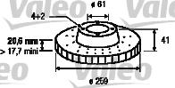 Disque de frein - VALEO - 186208