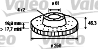 Disque de frein - VALEO - 186214