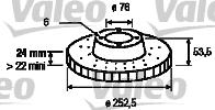Disque de frein - VALEO - 186218