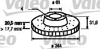 Disque de frein - VALEO - 186221
