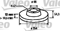 Disque de frein - VALEO - 186225