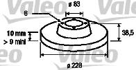 Disque de frein - VALEO - 186226