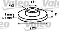 Disque de frein - VALEO - 186228