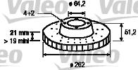 Disque de frein - VALEO - 186234