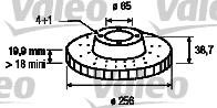 Disque de frein - VALEO - 186247
