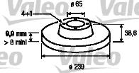 Disque de frein - VALEO - 186249