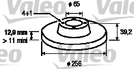 Disque de frein - VALEO - 186251