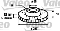 Disque de frein - VALEO - 186264