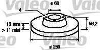 Disque de frein - VALEO - 186269