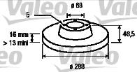 Disque de frein - VALEO - 186270