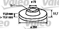 Disque de frein - VALEO - 186274