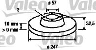 Disque de frein - VALEO - 186276