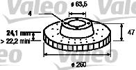 Disque de frein - VALEO - 186277