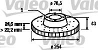 Disque de frein - VALEO - 186278