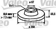 Disque de frein - VALEO - 186281
