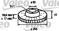 Disque de frein - VALEO - 186282