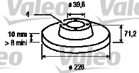 Disque de frein - VALEO - 186288